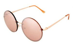 Topshop—Dome Lens Round Sunglasses