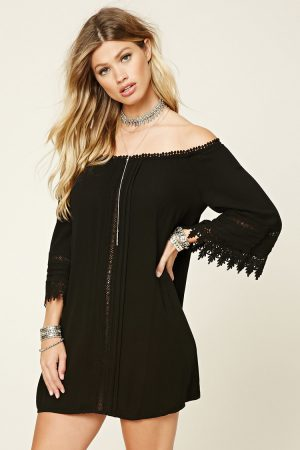 Fourever 21—Off the Shoulder Crochet Dress