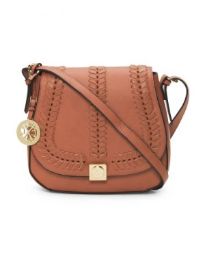 TJ Max—Whip Stitch Crossbody Saddle Bag