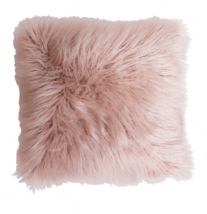 Keller Faux Mongolian 16-in W x 16-in L Rose Smoke Square Indoor Decorative Pillow