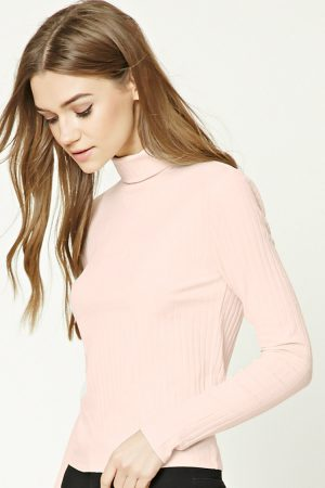 Ribbed Turtleneck Top