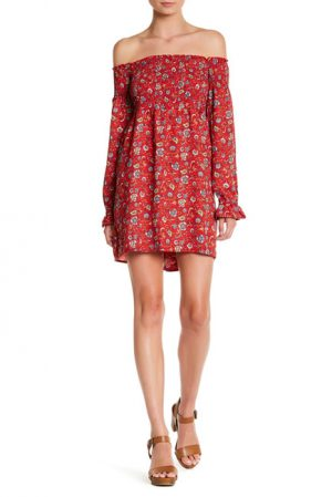 Floral Printed Off-the-Shoulder Dress