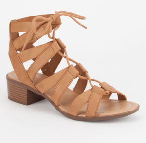 CITY CLASSIFIED Strappy Lace Up Womens Sandals