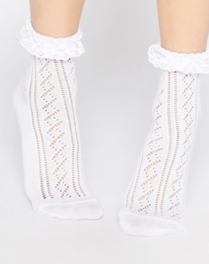 ASOS Crochet Lace Frill Ankle Socks
