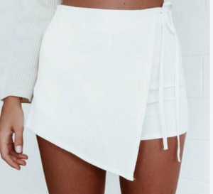 Candice Wrap Mini Skort - White