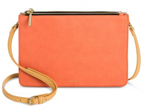 Faux Leather Two Compartment Reversible Crossbody Handbag - Harper by Hare+Hart