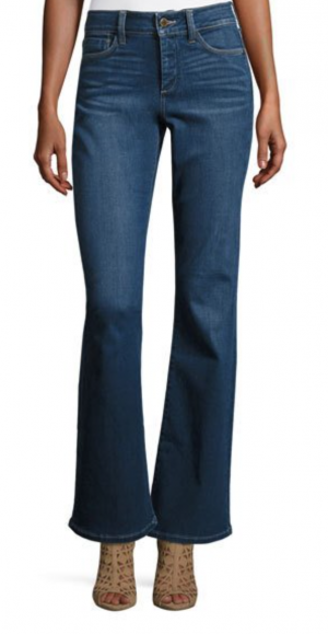 Farrah High-Waist Boot-Cut Jeans, Blue