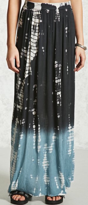 Contemporary Ombre Maxi Skirt