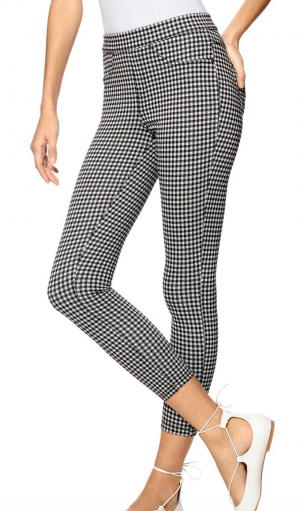 Hue Gingham-Check Capri Pants
