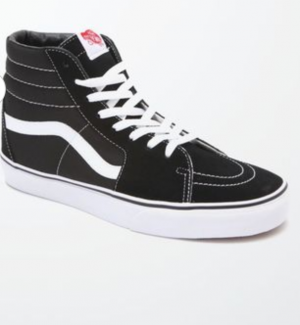 Vans Sk8-Hi Canvas Black & White Shoes