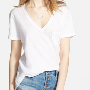Whisper' Cotton V-Neck Pocket Tee MADEWELL