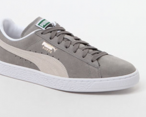 Puma Suede Classic Gray & White Shoes