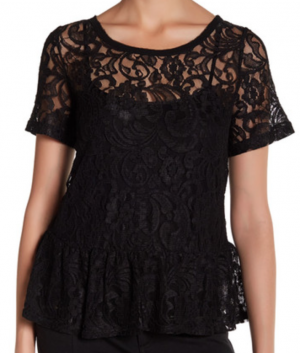 Lace Peplum Shirt