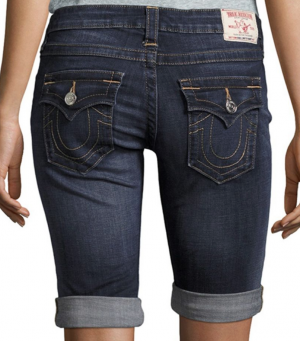True Religion Roll-Up Denim Shorts
