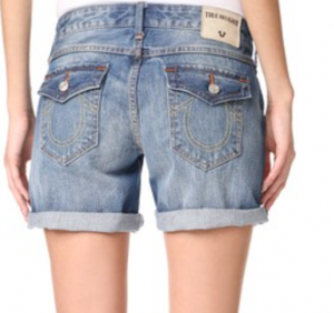 True Religion Emma Mid Rise Shorts
