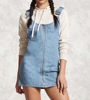 Ring Zipper Overall Dress
