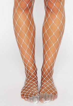 b051a583e6805 ASOS Oversized Fishnet Tights In White