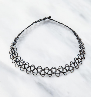 Black Tattoo Stretch Choker