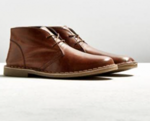 UO Leather Desert Boot - Brown 10 at Urban Outfitters