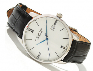 Stührling Prestige Men's 40mm Kingston Swiss Made Quartz Leather Strap Watch - 625-053