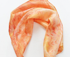 Bandana scarf- silk scarf- Neckerchief- orange, yellow scarf- Scarf Headband- bandanas- square scarf- small shibori scarf- silk neck scarf