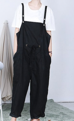 Womens Loose Fitting Cotton Linen Jumpsuits