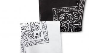 Men's Bandana Handkerchief - Merona™ Black/White One Size