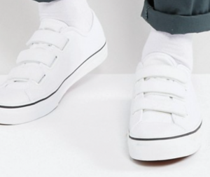 Vans Style 23 Velcro Sneakers In White VA38GCL5R