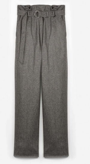 Piera Trouser - Pied Poule Brown - Wool Flannel