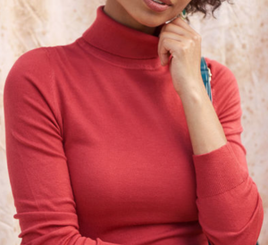 Charter School Turtleneck Sweater in Red