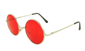 MLC Retro Round Sunglasses in Red